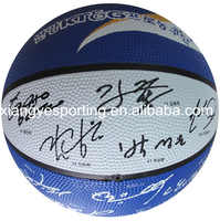 natural size 7 rubber basketball with signature print