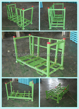 Metal Pallet Container/steel folding pallet cage for glass,auto parts