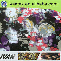 2014 fashion new design pretty polyester knitted digital wholesale floral print satin fabric