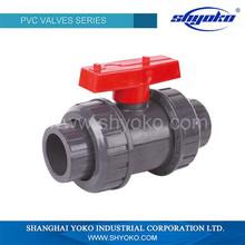 Manufactory supply best quality pvc flange ball valve