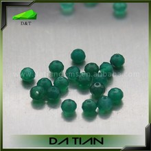 Faceted Natural Jewelry Making Loose Gemstone Green Agate Beads