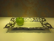ST-FP01 New product reliable ceramic rectangle fruit plate/ furnishings