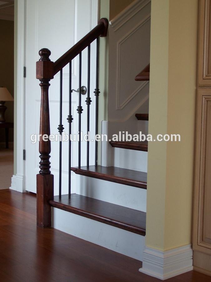 De madera dura de la escalera interior dise os - Barandas para escaleras de interior ...
