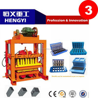 QT 4-40 Hot sale hydraulic block machine/Factory price portable brick making machine/manual concrete hollow block making machine