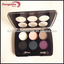 empty palette case,cosmetics plastic palette case for eyeshadow,eyeshdow palette with sponge blending brush