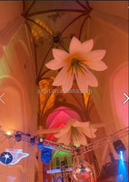 custom Inflatable flower lamp lily model