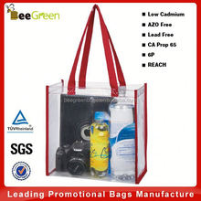 Promotional clear pvc bag with NFL stadium standards