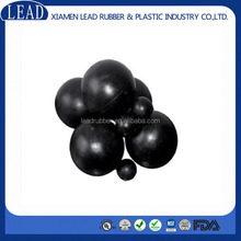 Black color different sizes elastic bouncy ball