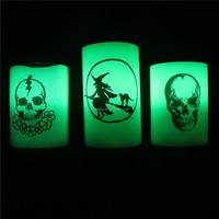 halloween decoration witch candles LED paraffin wax/party decoration sets