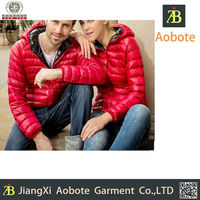 2015 Hot Selling Breathable Outdoor Red Couple Down Jacket