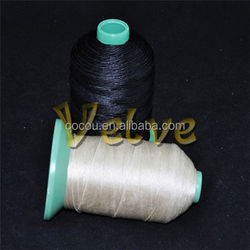 yarn manufacturer raw white anti pilling waxed 10-50s 100% polyester yarn