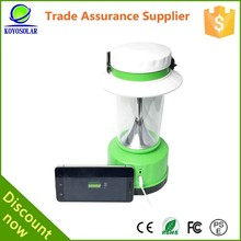 Fashion design 42 LED energy saving rechargeable solar lantern with mobile phone charger