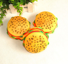squeaky hamburger vinyl dog toys pet toys
