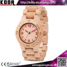 KODA accept watches FSC Natural Maple Wooden Analog Quartz Round Wood Women's Watch