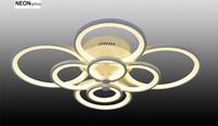 home decor 8 rings high power modern Led Ceiling Light for living room