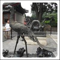 Metal Sculpture Outdoor Phoenix Bronze Statue
