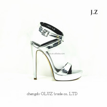 YX02 high heel shoes gold color ladies high heel sexy strap sandals!high heel sandal for girls