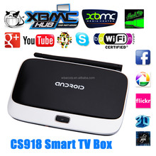 CS918 Android TV BOX With Quad Core RK3188T 1.8Ghz Full HD 1080P 2GB+8GB Support 3D Gaming GPU Mali 400 Android 4.4