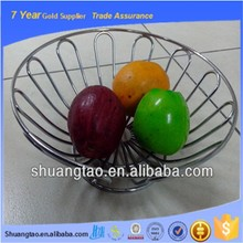 Table used practical rounded manufacture fruit basket, metal wire fruit basket, stainless steel wire fruit basket
