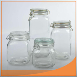 Clear good glass jar with wooden top For North America market