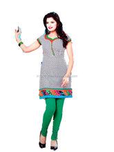 2014 New Style Hip Length Short Kurta with Churidaar Salwaar
