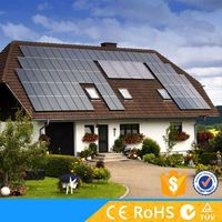 High power 1kw rooftop off grid complete home solar system with battery