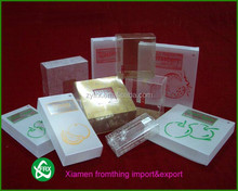 wholesale PVC/PET/PP high quality customized clear plastic apple pie packaging box