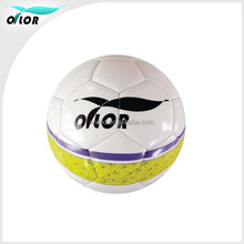 OTLOR Size 5 Laser Leather Material rubber bladder machine stitched Football & Soccer ball