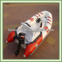 4.2m fiberglass hull inflatable rubber boat for sale
