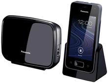 DECT telephone 2-in-1 3G Mobile and fixed calls Panasonic KX-PRX150 - black color