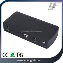 YF-JS01Black Color Car Emergency Jump Starter with Power Bank Function Car Jump Starter Manufacturer