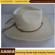 Wholesale cheap paper straw cowboy hats for men