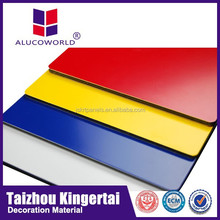 Alucoworld 20 years warrantly PVDF acp nanotechnology aluminum acm outdoor sign panel advertising board