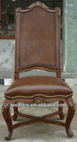 Antique genuine leather side chair MOQ:1 PCS (BF00-40079)