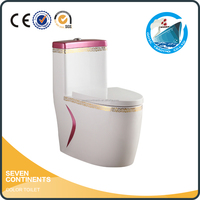 bathroom ceramic S trap 300mm P trap 180mm siphonic cheap one piece toilet