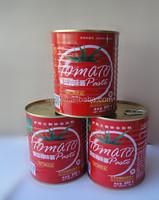 Organic fresh 850g*12tins tomato paste with HACCP,HALAL Certification China's tomato