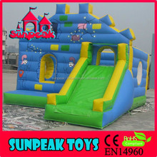 COM-015 Sunpeak Professional Inflatable Bouncy Castle With Water Slide