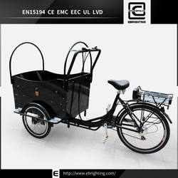 Family tricycle front load trike BRI-C01 metal shopping trolley