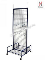 double sides gridwall display rack with hanging hook / Useful Mental display rack / Supermarket socks display stand