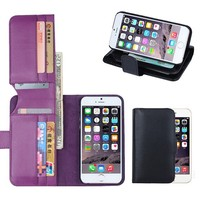 BRG Hot selling Wallet case for iphone 6 , for iphone 6 leather case 100% fit