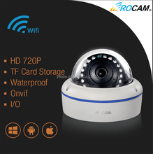 Easy Installation P2P 1.0 Megapixel Bullet IP Camera, 720P Outdoor Wateproof IP Camera with Wifi, POE