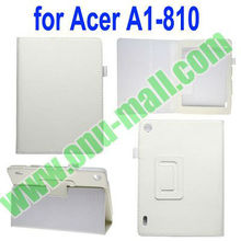 Hot Selling Lichee Texture Cover for Acer Iconia A1 810 Leather Case with Pen Holder