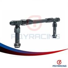 PQY STORE-AN8 -8AN Black Dual Feed Fuel Line Dual Feed Carb Fuel Line Kit PQY-QT43BK