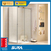 Tempered glass corner enclosed cubicle shower rooms