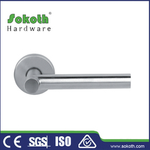 Universal Non Handed Lever Set Satin Stainless Steel Handles