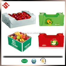 2015 fruit packaging corrugated boxes, corrugated plastic box for grapes packing