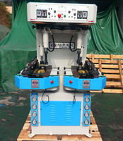 Hydraulic walled sole press shoe machine used to make shoes