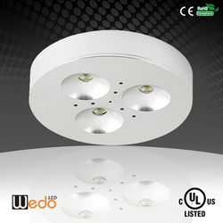 UL cUL Listed Led Puck Light Silver /white/black Aluminum led cabient light 3w