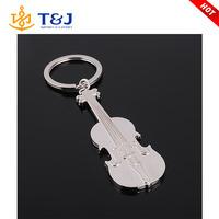 Creative fashion zinc alloy metal guitar keychain guitar keyring for women men /
