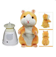 Talking Toy Hamster/ Pet Hamster Talking Repetitive Plush Animal Toy Electronic Hamster Mouse Brown